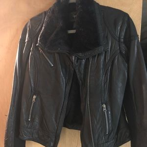 Aqua women's Leather jacket